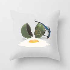 Eggsplosion Throw Pillow