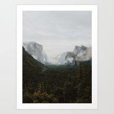 Yosemite Fog Art Print