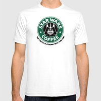 ForceCoffee Mens Fitted Tee White SMALL