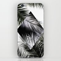 Palm Leaves 3 Geometry iPhone & iPod Skin