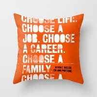 Trainspotting Throw Pillow