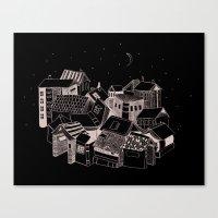 Book Town Canvas Print