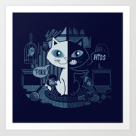 Hiss And Purrs Art Print