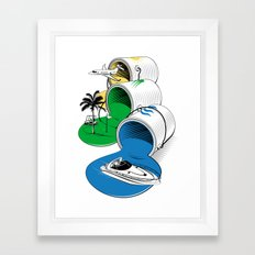 Luxury Paints Framed Art Print