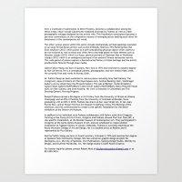 Ditch Projects Press Rel… Art Print