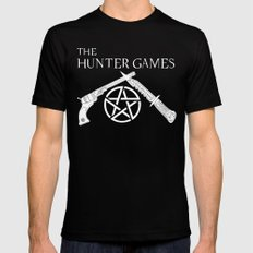 The Hunter Games SMALL Black Mens Fitted Tee