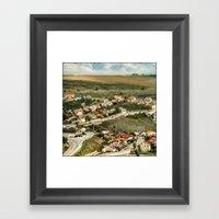 Model Houses  Framed Art Print