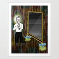 The Empty Mirror Art Print