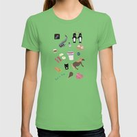 Parks & Recreation Womens Fitted Tee Grass SMALL