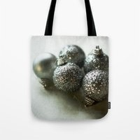 Silver Baubles Tote Bag