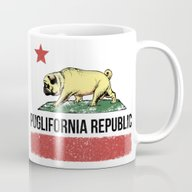 Puglifornia Republic Mug