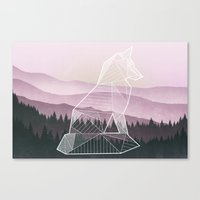 Geometric Nature - Fox (Full) Canvas Print