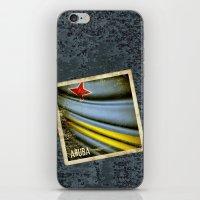 Grunge sticker of Aruba flag iPhone & iPod Skin