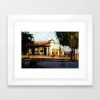 Train Station Color Framed Art Print
