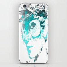 Audrey splash Cool Blue iPhone & iPod Skin