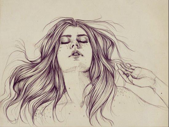 Flowing like the tide Art Print