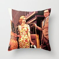 Betty & Don Draper from Mad Men - Painting Style Throw Pillow