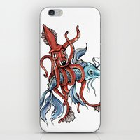 Squid And Fish iPhone & iPod Skin