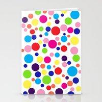 Polk-a-dot colors Stationery Cards