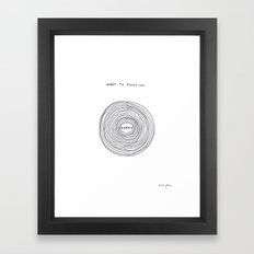 What to focus on Framed Art Print