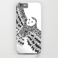 iPhone & iPod Case featuring Black and White Barn Owl Beaut by Flo Thomas