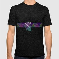 Triangles Mens Fitted Tee Tri-Black SMALL