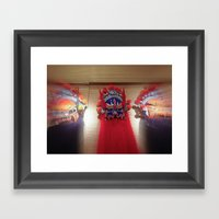Masks Of Chinese Opera Framed Art Print