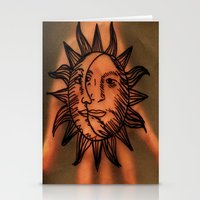 Sun Hand. Stationery Cards