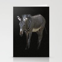 Black And White On Black Stationery Cards