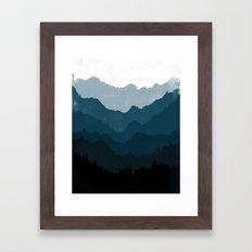 Mists No. 6 - Ombre Blue… Framed Art Print