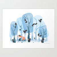 Squinjas! Art Print