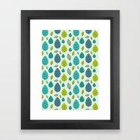 Trees Pattern Framed Art Print