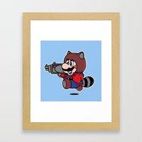 Rocket Tanooki  Framed Art Print