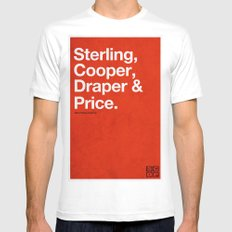 Mad Men   Sterling, Cooper, Draper & Price Mens Fitted Tee White SMALL