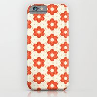 iPhone & iPod Case featuring Retro Red Flower by Stoflab