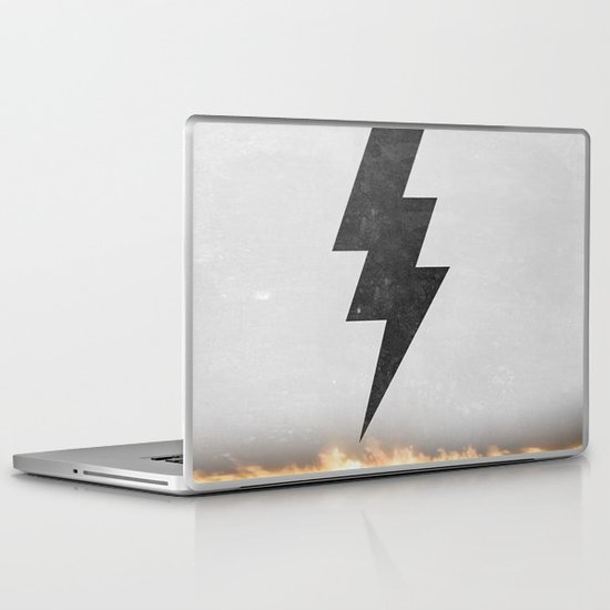 lightning strike Laptop & iPad Skin