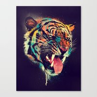 FEROCIOUS TIGER Canvas Print