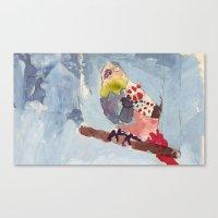 It's Raining, Birds Are … Canvas Print