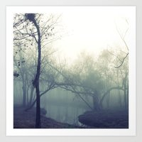 misty morning ... Art Print