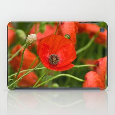 Wild Red Poppies iPad Case