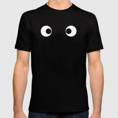 Curiously Troll ~ My Neighbor Troll SMALL Black Mens Fitted Tee