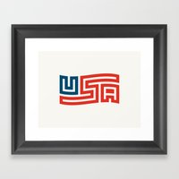 USA Flag Framed Art Print