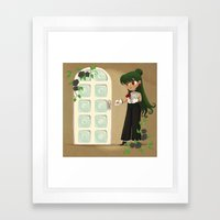 Retro Sailor Pluto Framed Art Print