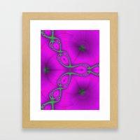 Fractal Chain Framed Art Print