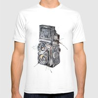 Camera Happy  Mens Fitted Tee White SMALL