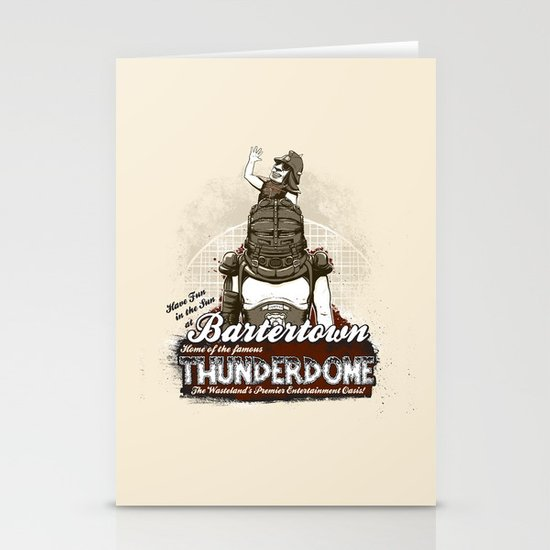 Visit Bartertown! Stationery Card