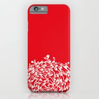 iPhone & iPod Case featuring Red Birds by Judy Kaufmann