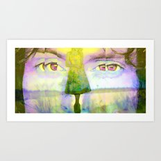 Disjointed Memory  Art Print