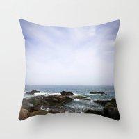 Acadia View - Ocean Scen… Throw Pillow