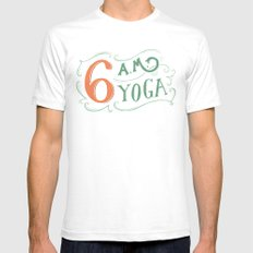 6AM Yoga Mens Fitted Tee White SMALL